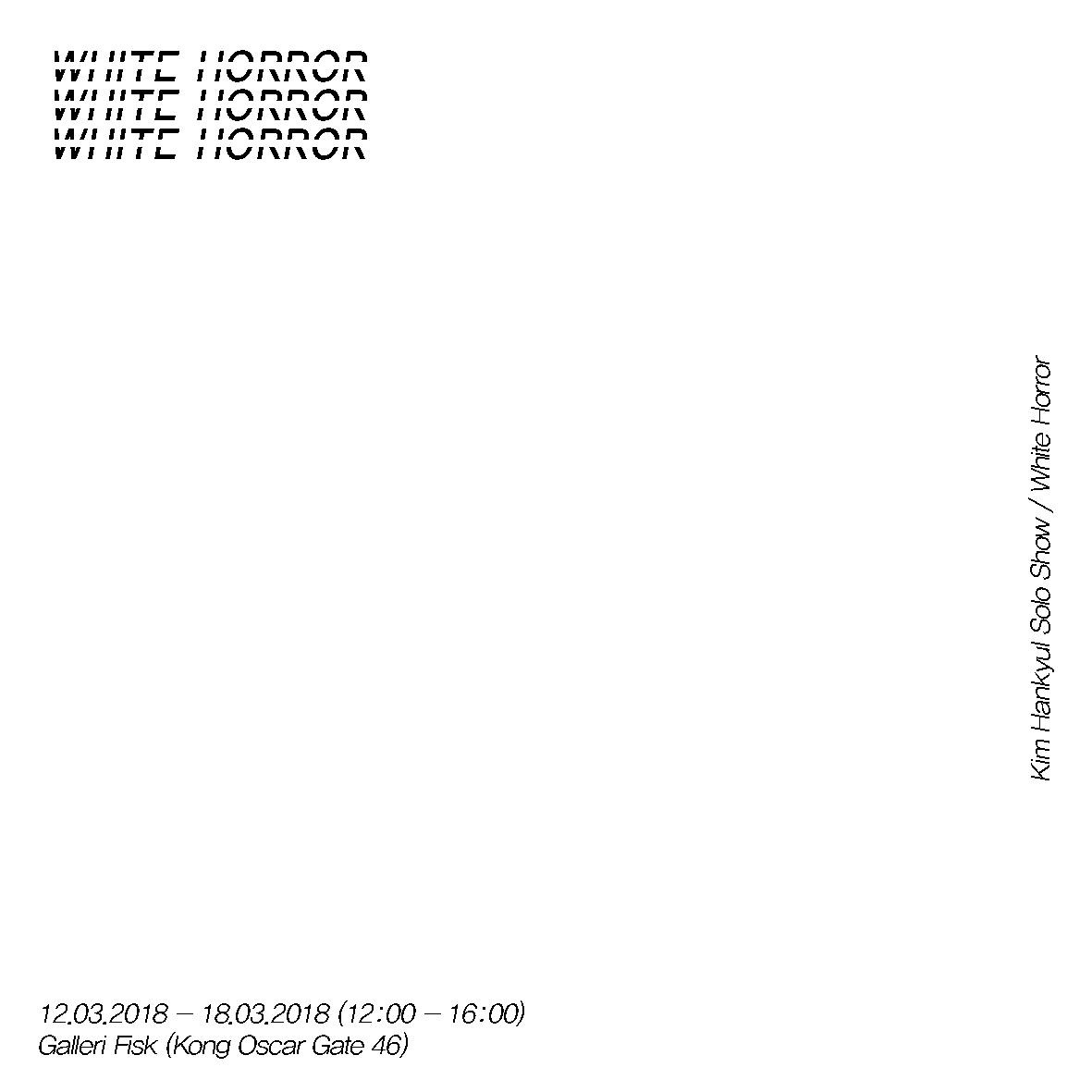 Kim Hankyul – White Horror (Interactive sound installation)